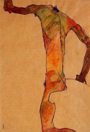 Male Nude | Egon Schiele | oil painting