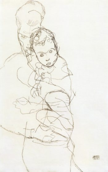Mother and Child 1 | Egon Schiele | oil painting