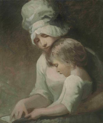 A Mother and Child Reading | George Romney | oil painting