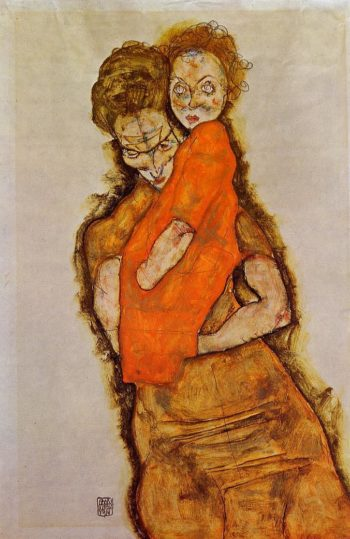 Mother and Child | Egon Schiele | oil painting