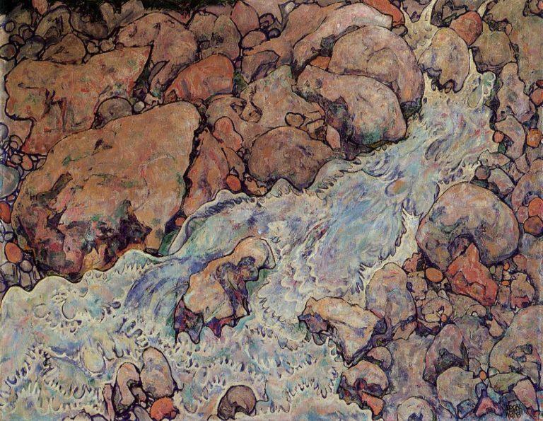 Mountain Torrent | Egon Schiele | oil painting