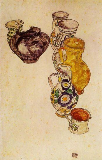 Peasants' Jug | Egon Schiele | oil painting