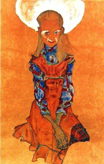 Poldi Lodzinsky | Egon Schiele | oil painting