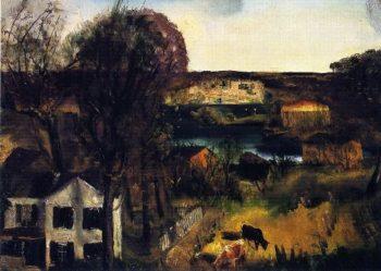 Hudson at Saugerties | George Wesley Bellows | oil painting