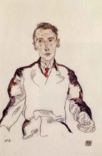 Portrait of Dr Heinrich Rieger | Egon Schiele | oil painting