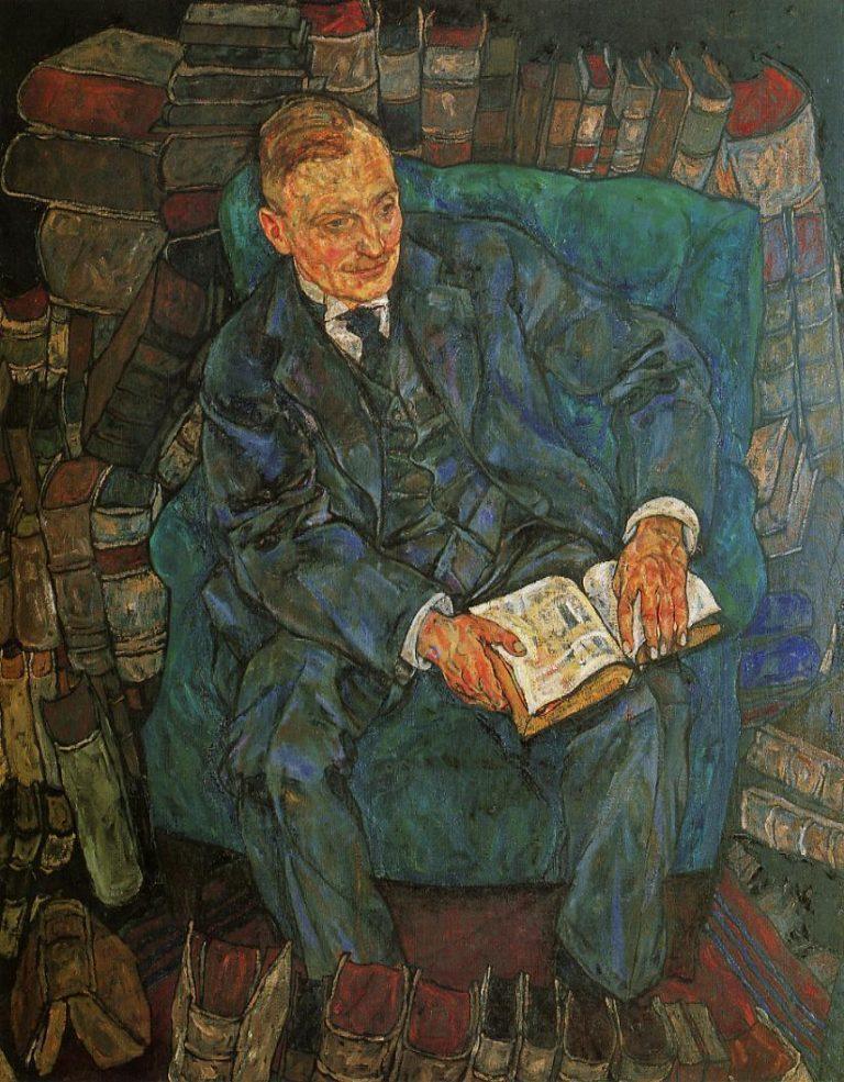 Portrait of Dr Hugo Koller | Egon Schiele | oil painting
