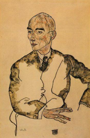 Portrait of Dr Viktor Ritter von Bauer | Egon Schiele | oil painting