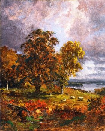 Landscape with Trees | Jasper Francis Cropsey | oil painting