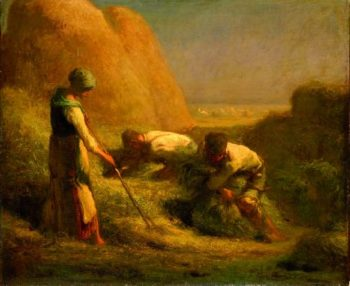 The Hay Trussers | Jean Francois Millet | oil painting