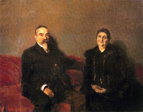 My Children's Grandparents | Joaquin Sorolla y Bastida | oil painting