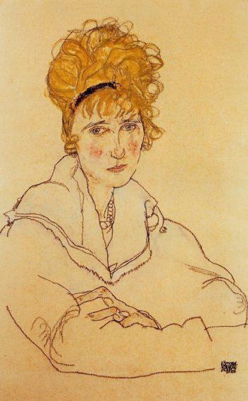Portrait of Edith Schiele | Egon Schiele | oil painting