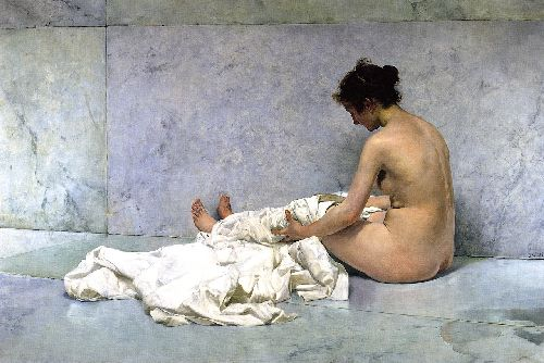 After Bathing | Joaquin Sorolla y Bastida | oil painting