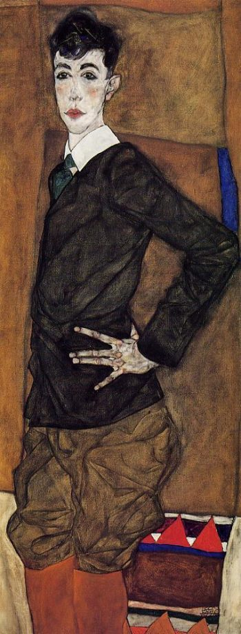 Portrait of Erich Lederer | Egon Schiele | oil painting