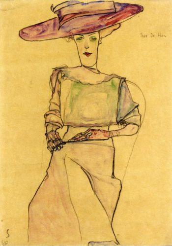 Portrait of Frau Dr Horak | Egon Schiele | oil painting