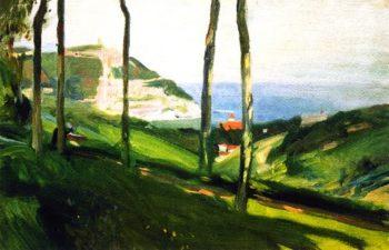 Landscape of San Sebastian with Mount Igueldo | Joaquin Sorolla y Bastida | oil painting