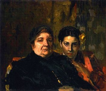 Maria and Her Grandmother Clotilde | Joaquin Sorolla y Bastida | oil painting