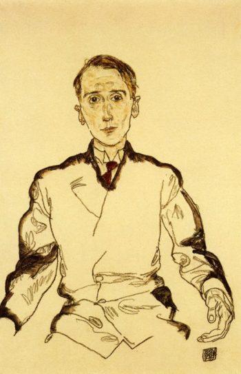 Portrait of Heinrich Rieger | Egon Schiele | oil painting