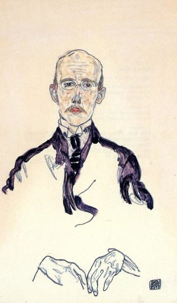 Portrait of Karl Maylander | Egon Schiele | oil painting