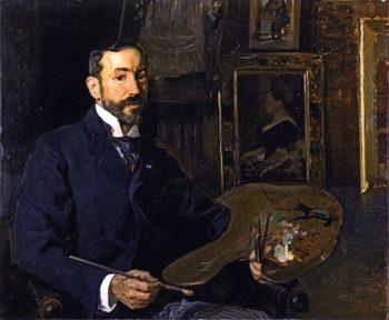 The Painter Jose Moreno Carbonero | Joaquin Sorolla y Bastida | oil painting