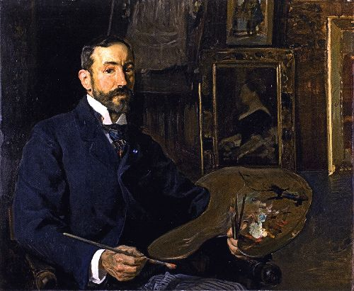The Painter Jose Moreno Carbonero | Joaquin Sorolla y Bastida | oil painting