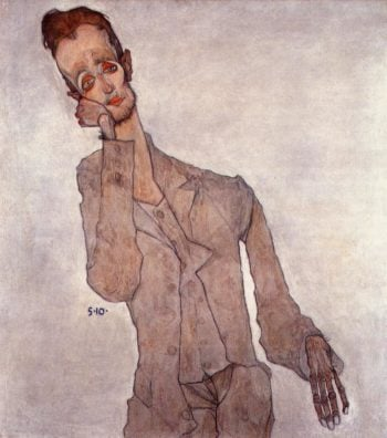 Portrait of Karl Zakovsek | Egon Schiele | oil painting