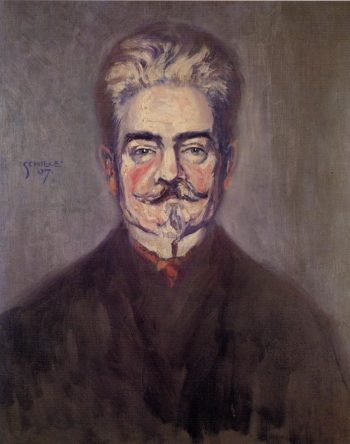 Portrait of Leopold Czihaczek | Egon Schiele | oil painting