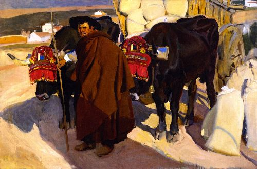 A Castilian Oxman | Joaquin Sorolla y Bastida | oil painting