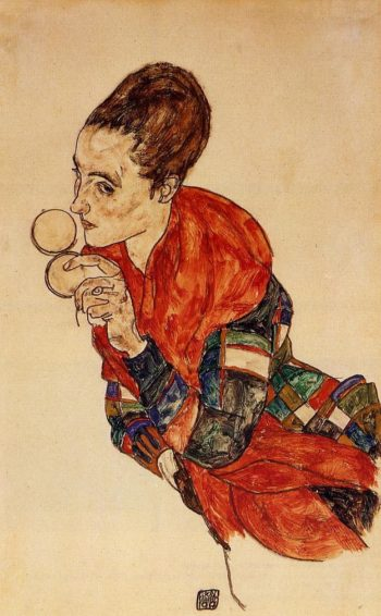 Portrait of the Actress Marga Boerner | Egon Schiele | oil painting