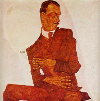 Portrait of the Art Critic Arthur Roessler | Egon Schiele | oil painting