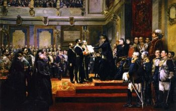 Pledge to the Constitution of 1876 by the Regent Maria Cristina of Hapsburg | Joaquin Sorolla y Bastida | oil painting
