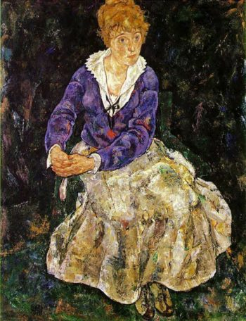 Portrait of the Artist's Wife Seated | Egon Schiele | oil painting