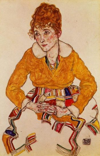 Portrait of the Artist's Wife | Egon Schiele | oil painting