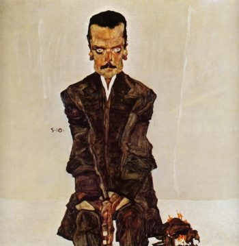 Portrait of the Publisher Eduard Kosmack | Egon Schiele | oil painting