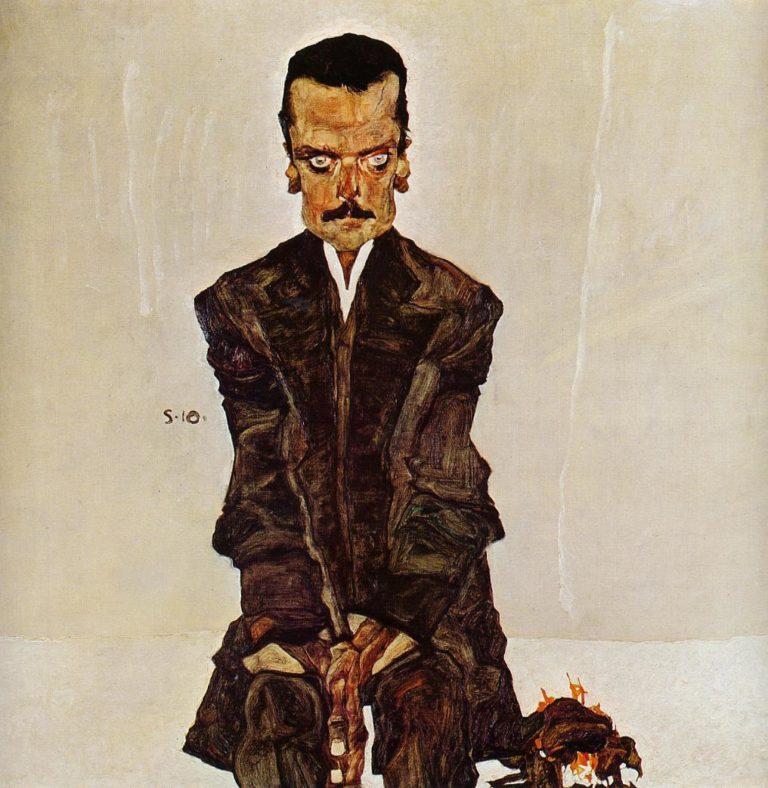 Portrait of the Publisher Eduard Kosmack | Egon Schiele | oil painting