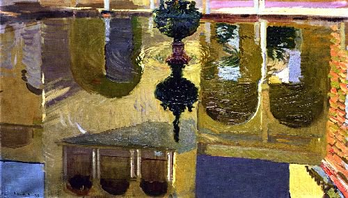 Reflections in a Fountain | Joaquin Sorolla y Bastida | oil painting
