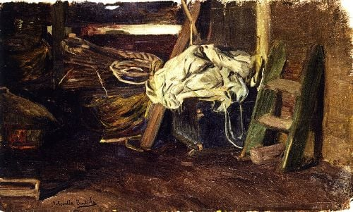 The Hold of a Fishing Vessel   Joaquin Sorolla y Bastida   oil painting