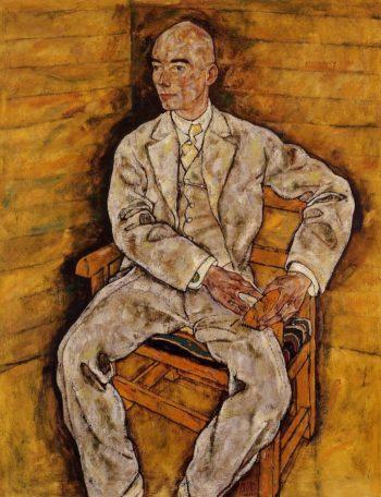 Portrait of Victor Ritter von Bauer | Egon Schiele | oil painting