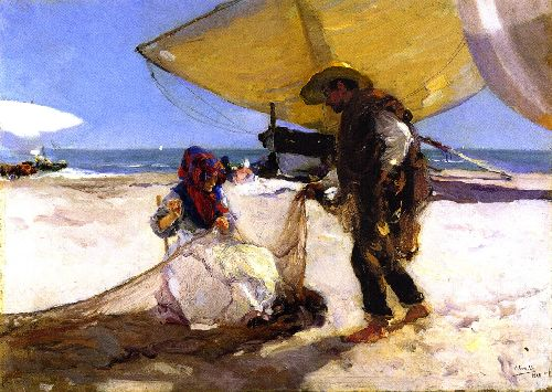 The Net | Joaquin Sorolla y Bastida | oil painting