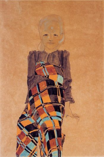 Seated Girl | Egon Schiele | oil painting