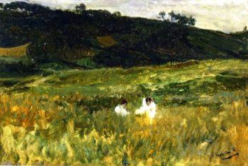 Landscape with Figures Asturias | Joaquin Sorolla y Bastida | oil painting