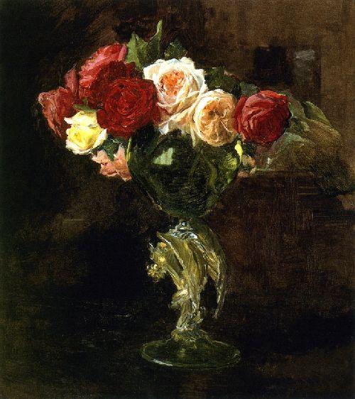 Roses | Joaquin Sorolla y Bastida | oil painting