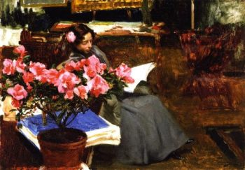 Clotilde in the Studio | Joaquin Sorolla y Bastida | oil painting