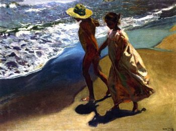 To the Water | Joaquin Sorolla y Bastida | oil painting