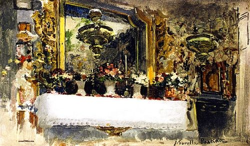 Altar del Pouet de Sant Vincent | Joaquin Sorolla y Bastida | oil painting