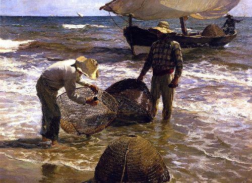 Valencian Fishermen   Joaquin Sorolla y Bastida   oil painting