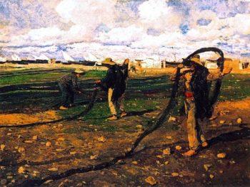 Fishermen Taking Up the Nets | Joaquin Sorolla y Bastida | oil painting