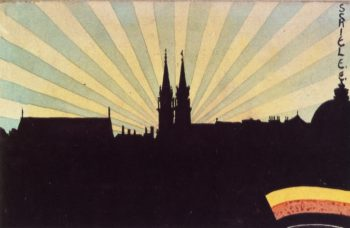 Silhouette of Klosterneuburg | Egon Schiele | oil painting