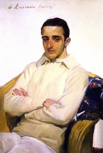 Jose Luis Mariano Benlliure Arana | Joaquin Sorolla y Bastida | oil painting