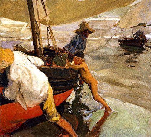 Morning Sun Playa de Valencia | Joaquin Sorolla y Bastida | oil painting