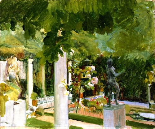 Garden at the Casa Sorolla | Joaquin Sorolla y Bastida | oil painting